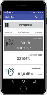 Listen Ear™ Mobile App Screen